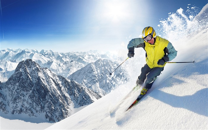 Alpine skiing in winter - Extreme sports wallpaper Views:31933