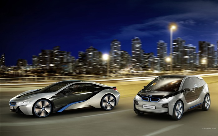 BMW i3-i8 brand concept car HD wallpaper Views:20330