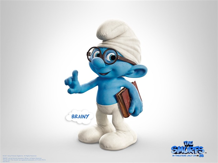 Brainy Smurf-The Smurfs 3D Movie wallpaper Views:29458
