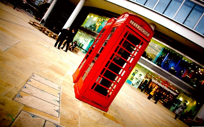 British street telephone booth-Alternative Landscape Photography Views:7230