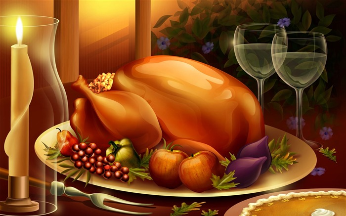 Thanksgiving illustration design wallpaper Views:12511
