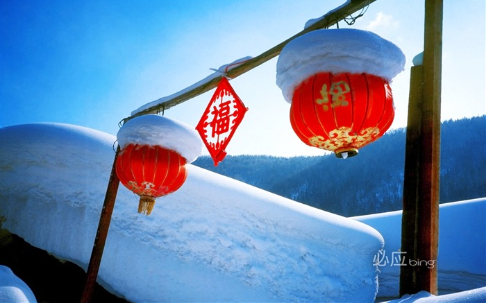 Chinese red lantern wallpaper Views:8104
