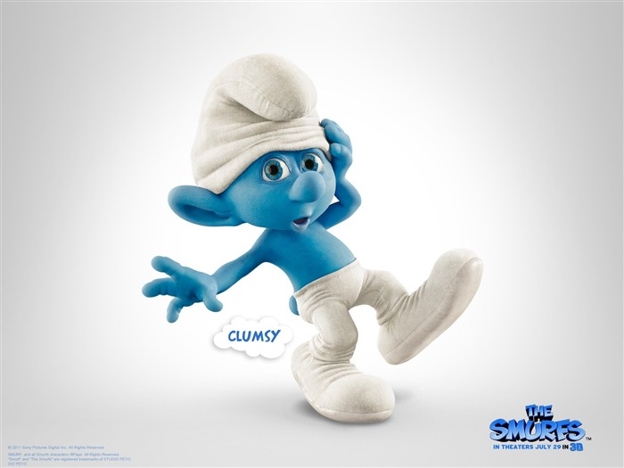 Clumsy Smurf-The Smurfs 3D Movie wallpaper Views:28865
