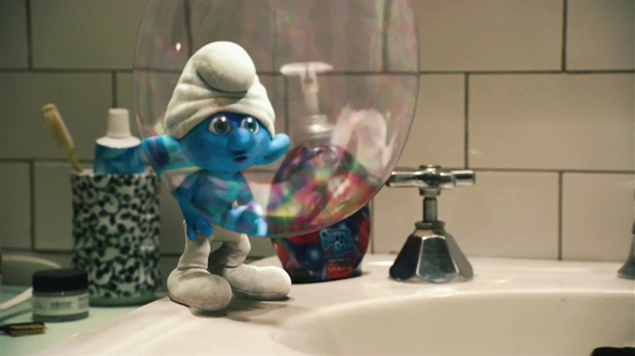 Clumsy Smurf 01-The Smurfs 3D Movie wallpaper Views:36343