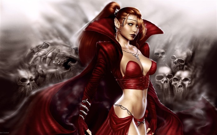 Crimson Enchantress-Master CG Characters Artwork by Mark Coulson Views:8182