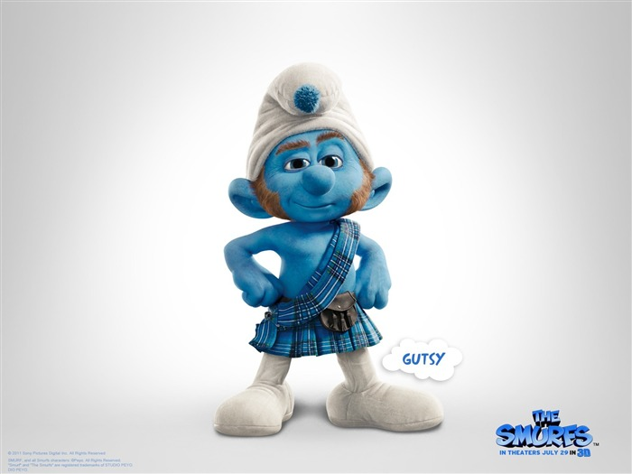 Gutsy Smurf-The Smurfs 3D Movie wallpaper Views:33387
