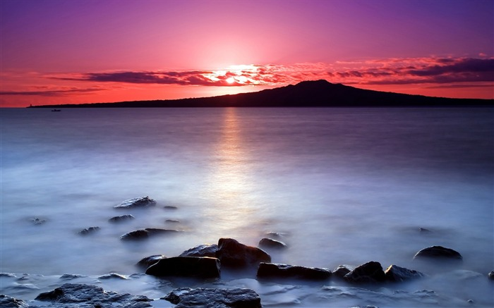 New Zealand-Sunrise on Auckland North Shore with a view of Rangitoto Island 01 Views:5366