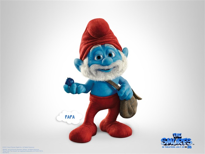 Papa Smurf-The Smurfs 3D Movie wallpaper Views:26838