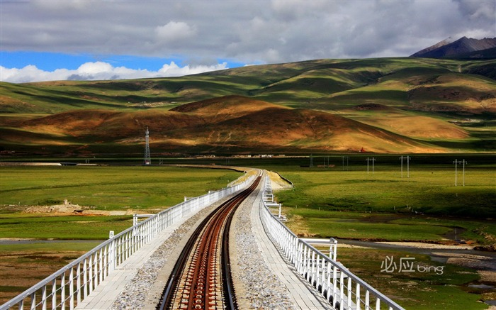 Qinghai-Tibet Railway wallpaper Views:13889