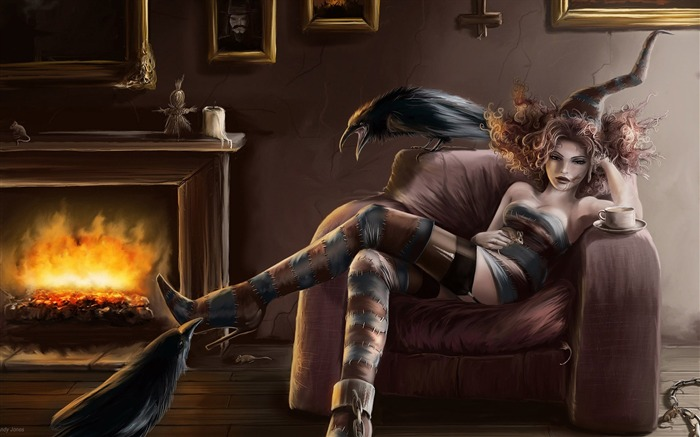 The Witchfinder-Master CG Characters Artwork by Andy Jones Views:6372