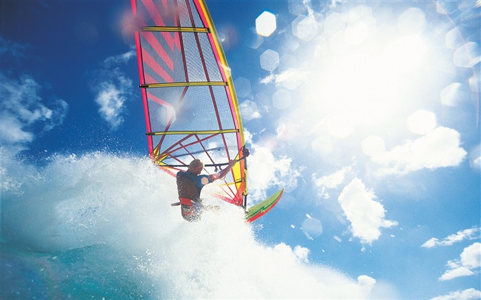 Windsurfing surfing - Extreme sports wallpaper Views:20275
