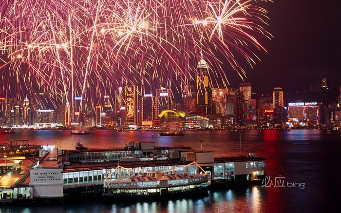 fireworks display in Hong Kong wallpaper Views:15955