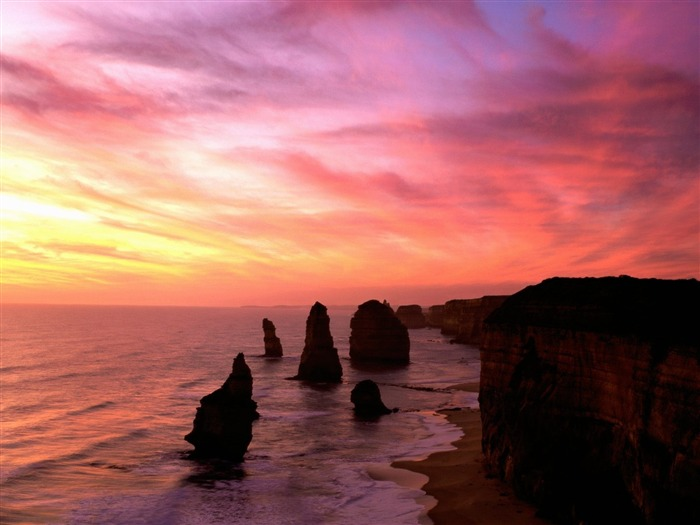 Australia coastline-Nature Landscape Desktop Wallpaper Views:4601