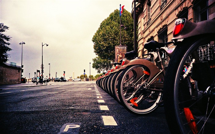 City corner with the shot Lomo - Lomo style wallpaper Views:16763
