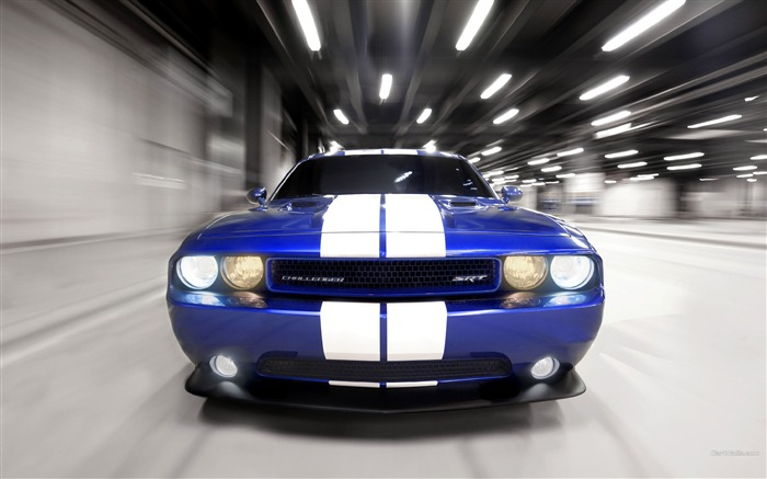 Blue and white front-Dodge Challenger SRT8 392 2012 models HD wallpaper Views:9418