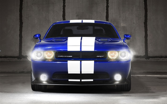 Blue and white front2-Dodge Challenger SRT8 392 2012 models HD wallpaper Views:9999