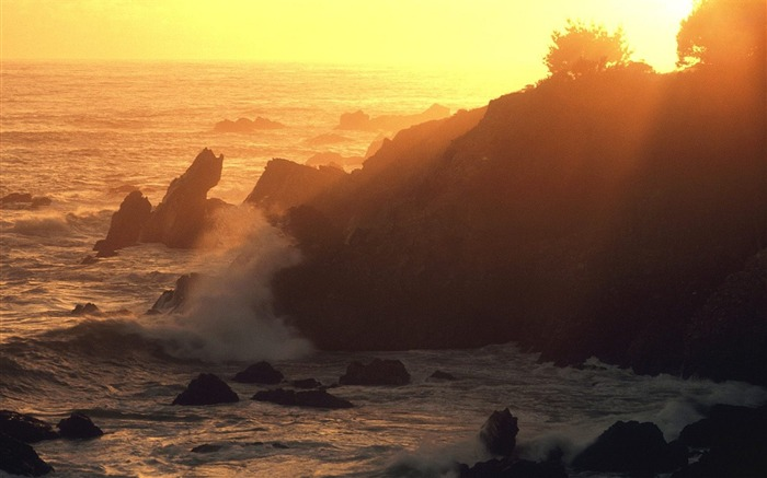 California-Pacific Sunset Wallpaper Views:3219