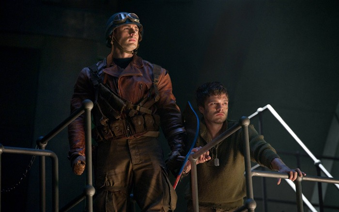 Captain America With WW2 Shield-Captain America-The First Avenger HD Movie Wallpaper Views:7600