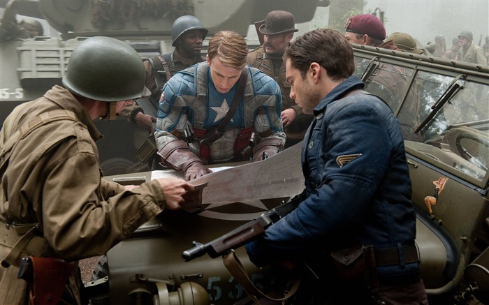 Captain America and Bucky Barnes Plan-Captain America-The First Avenger HD Movie Wallpaper Views:21095