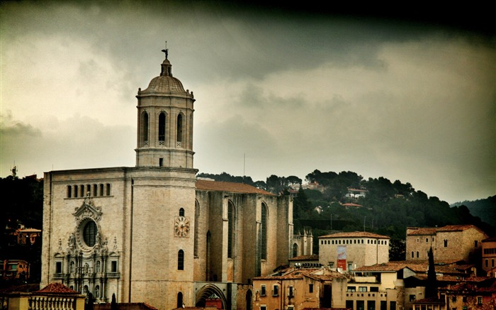 Cathedral-Spain Girona city landscape Views:6559