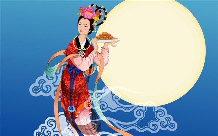 Chang-e flies to the moon- Mid-Autumn Festival special edition wallpaper 03 Views:3402