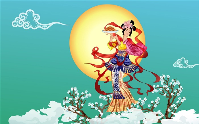 Chang-e flies to the moon- Mid-Autumn Festival special edition wallpaper 05 Views:15399