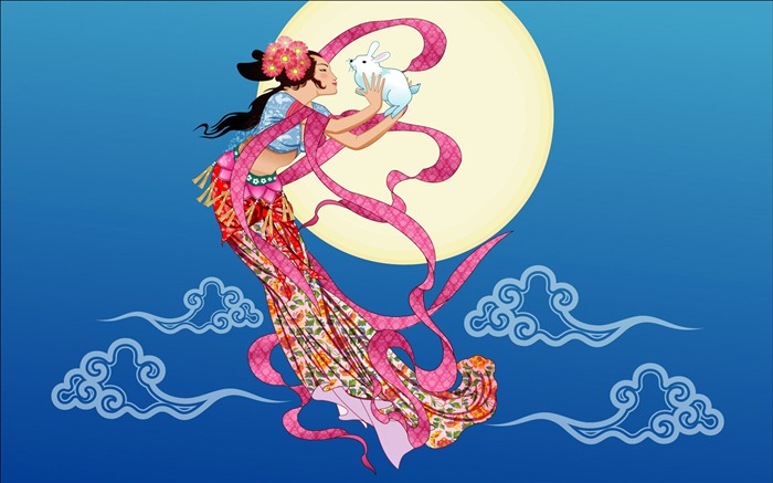 Chang-e flies to the moon- Mid-Autumn Festival special edition wallpaper 07 Views:4486