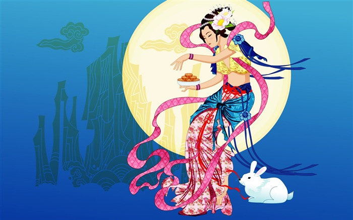 Chang-e flies to the moon- Mid-Autumn Festival special edition wallpaper 08 Views:7853