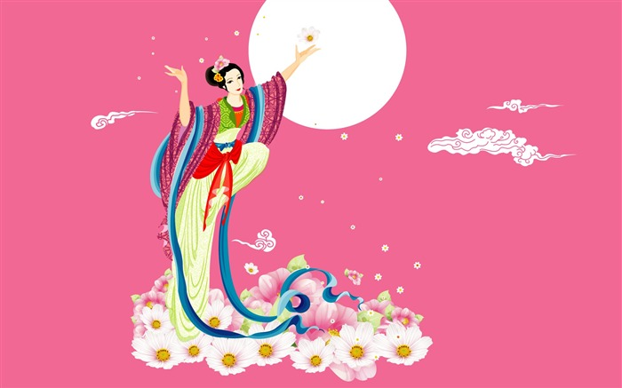 Chang-e flies to the moon- Mid-Autumn Festival special edition wallpaper 13 Views:5451