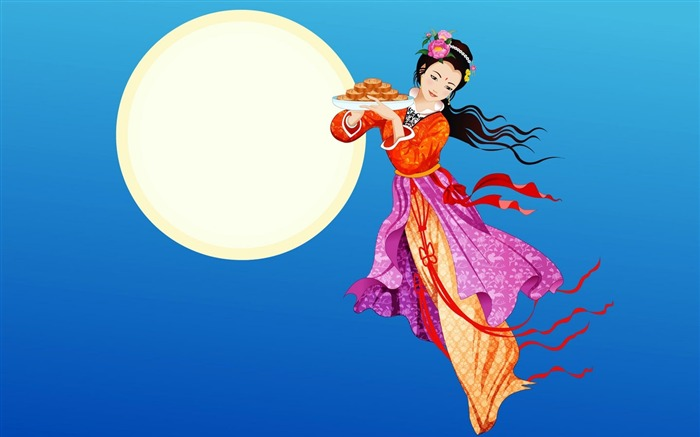Chang-e flies to the moon- Mid-Autumn Festival special edition wallpaper 15 Views:3531