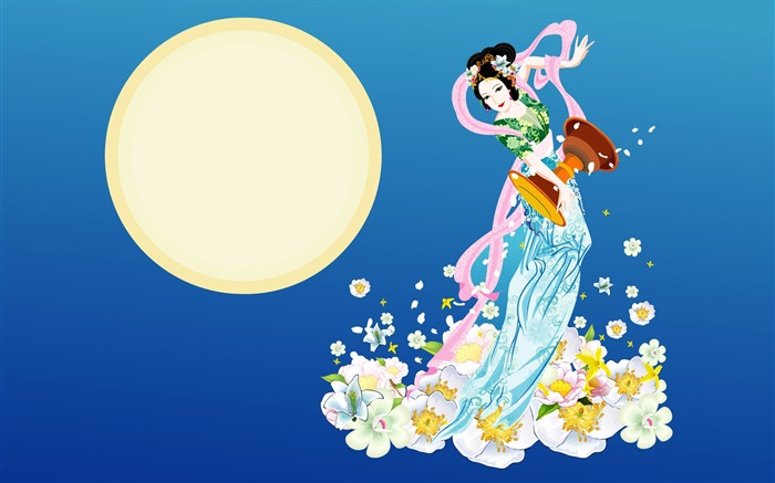 Chang-e flies to the moon- Mid-Autumn Festival special edition wallpaper 16 Views:3798