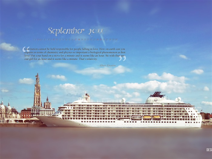 City Of Antwerp-September 2011-Calendar Desktop Wallpaper Views:3745