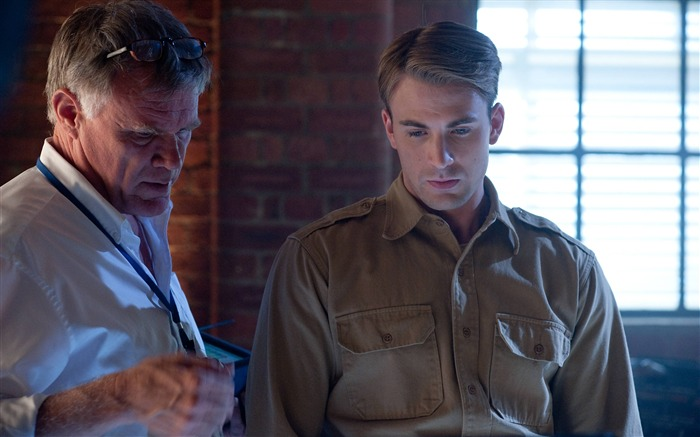 Director Joe Johnston and Chris Evans-Captain America-The First Avenger HD Movie Wallpaper Views:8306