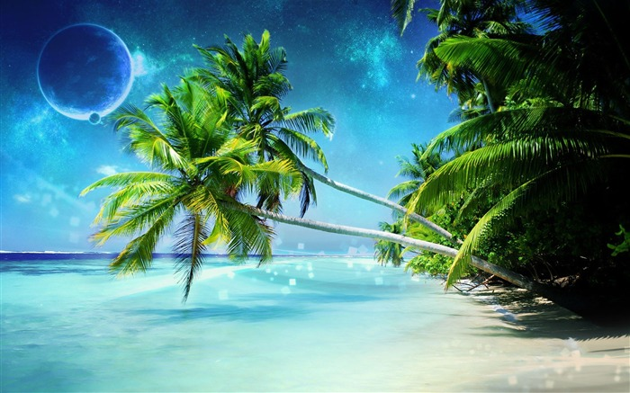Dream Beach-Nature Landscape Desktop Wallpaper Views:32280