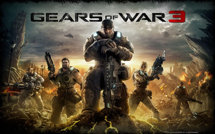 Gears of War 3 official game wallpaper Views:12147
