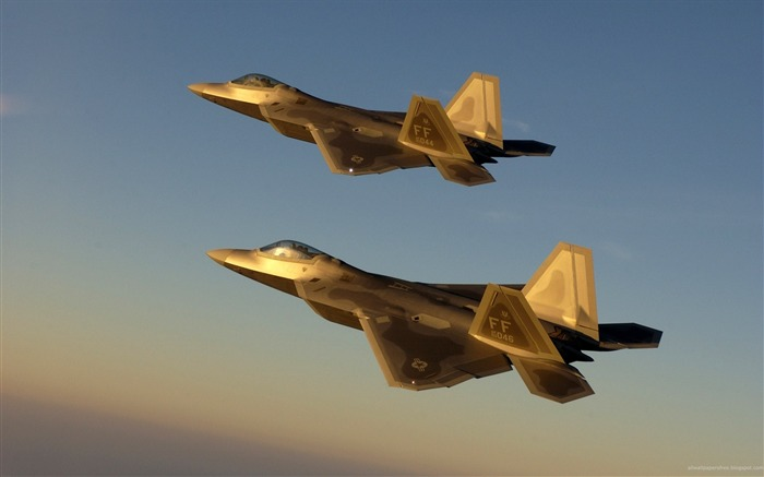 Golden Jet Fighter Planes- military aircraft - HD Wallpaper Views:9117