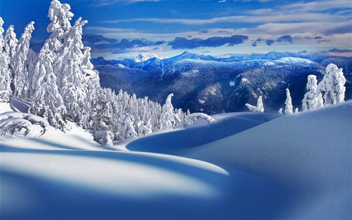 Ice Mountains-landscape wallpaper selection Views:9610