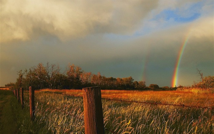 Kansas-the rainbow after the storm wallpaper Views:5983