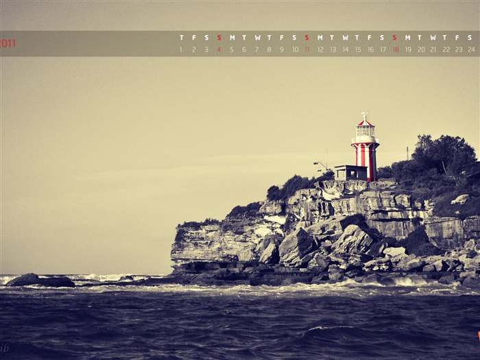 Lighthouse-September 2011-Calendar Desktop Wallpaper Views:4904