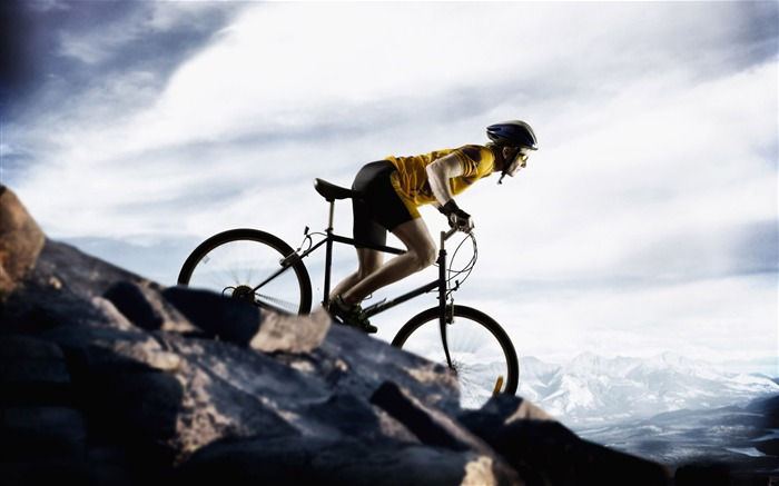 Mountain biking 01- SPORT Wallpaper Views:11800