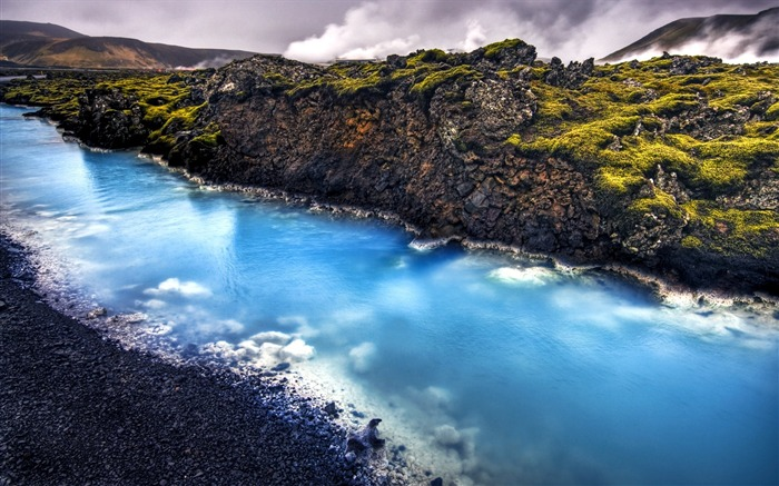 HDR Iceland landscape widescreen wallpaper Views:17276