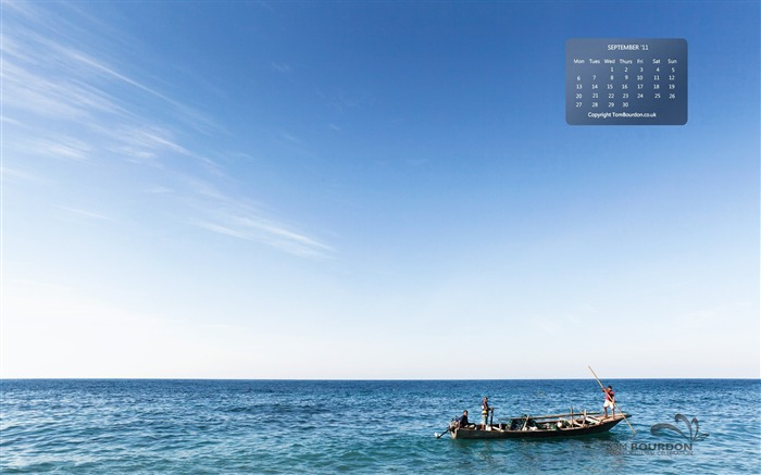 Ocean fishing-September 2011-Calendar Desktop Wallpaper Views:3935