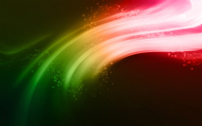 Rainbow Stars curve-abstract design wallpaper background glare Views:21603