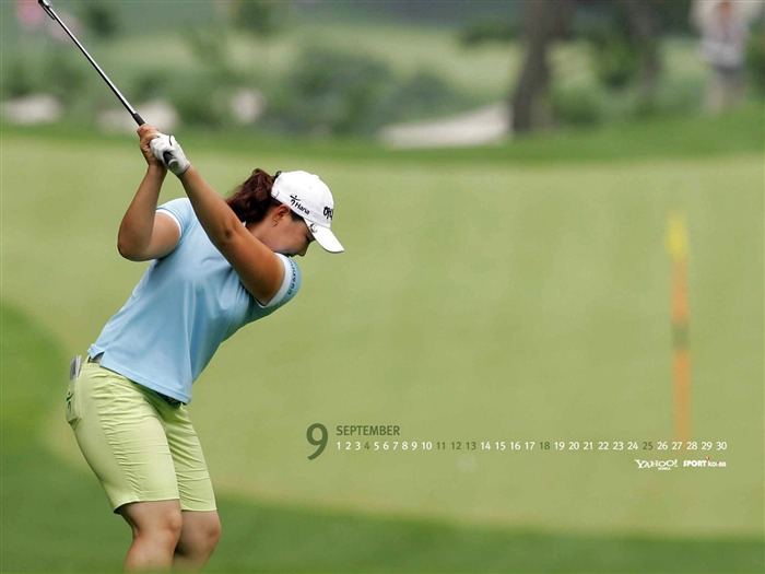 Septembre - Calendrier - Golf wallpaper Vues:8073