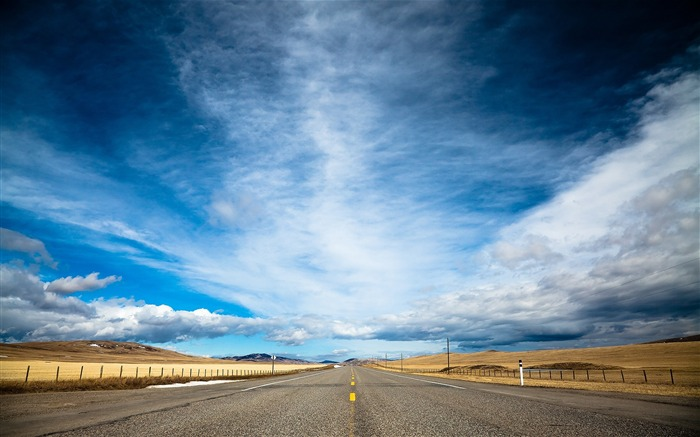 Sky and Road-landscape wallpaper selection Views:14939