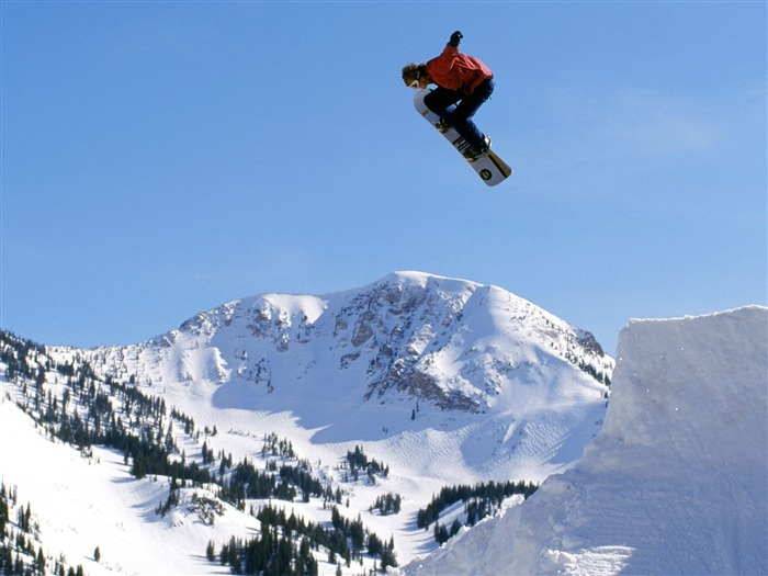 Snow Skateboarding- SPORT Wallpaper Views:10014