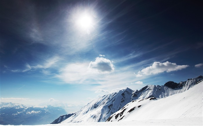 Snowy Mountains-landscape wallpaper selection Views:10627