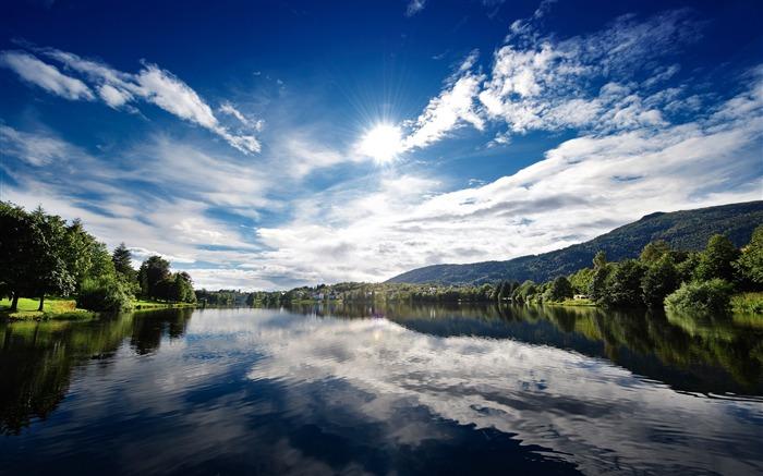 Summer Lake Reflections-landscape wallpaper selection Views:5097