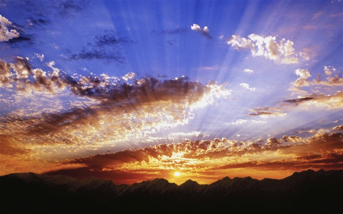 Sun Rays-landscape wallpaper selection Views:4964