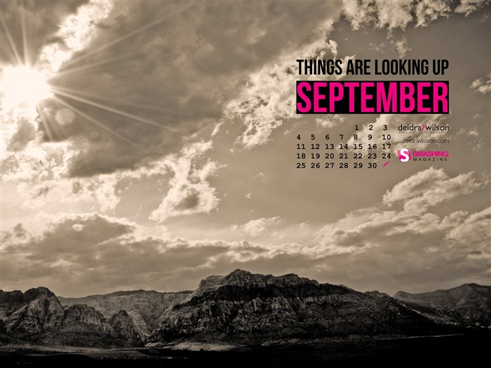 Things Are Looking Up-September 2011-Calendar Desktop Wallpaper Views:4754